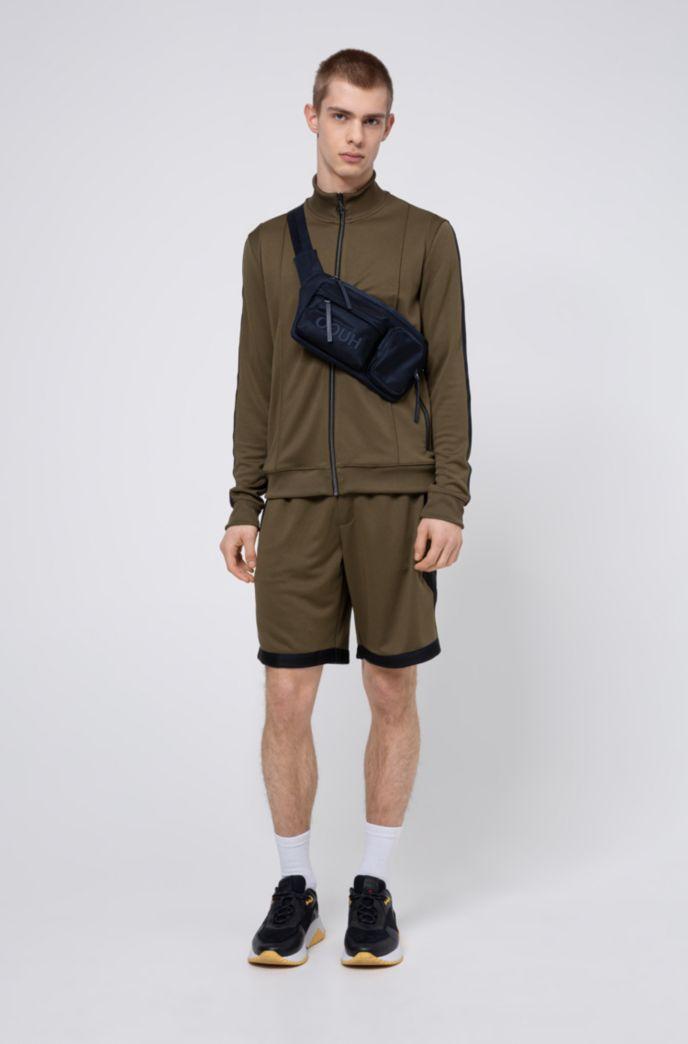 Relaxed-Fit Shorts aus Interlock-Jersey mit gestreiften Tape-Details