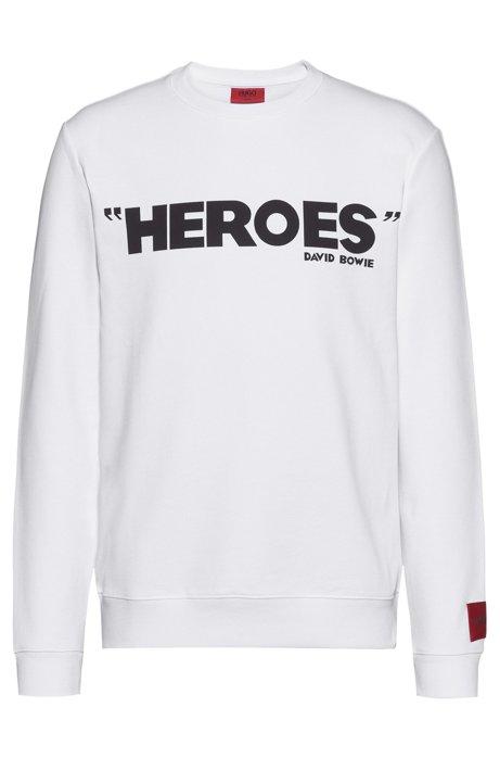 Sweatshirt aus French Terry mit ikonischem Print, Weiß