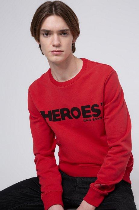 Sweatshirt aus French Terry mit ikonischem Print, Rot
