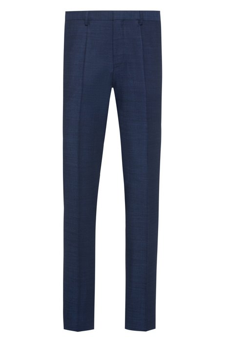 Extra-slim-fit trousers in a virgin-wool blend, Blue