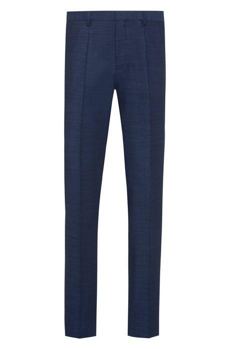 Extra slim-fit broek van een scheerwolmix, Blauw