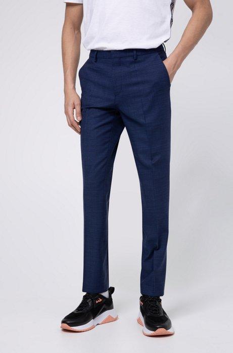 Pantalon Extra Slim Fit en laine vierge mélangée, Bleu