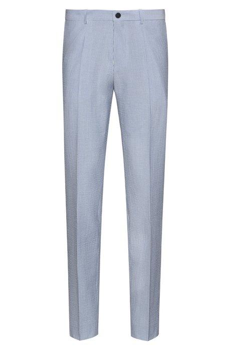 Pantalones extra slim fit de sirsaca a rayas con elástico, Fantasía