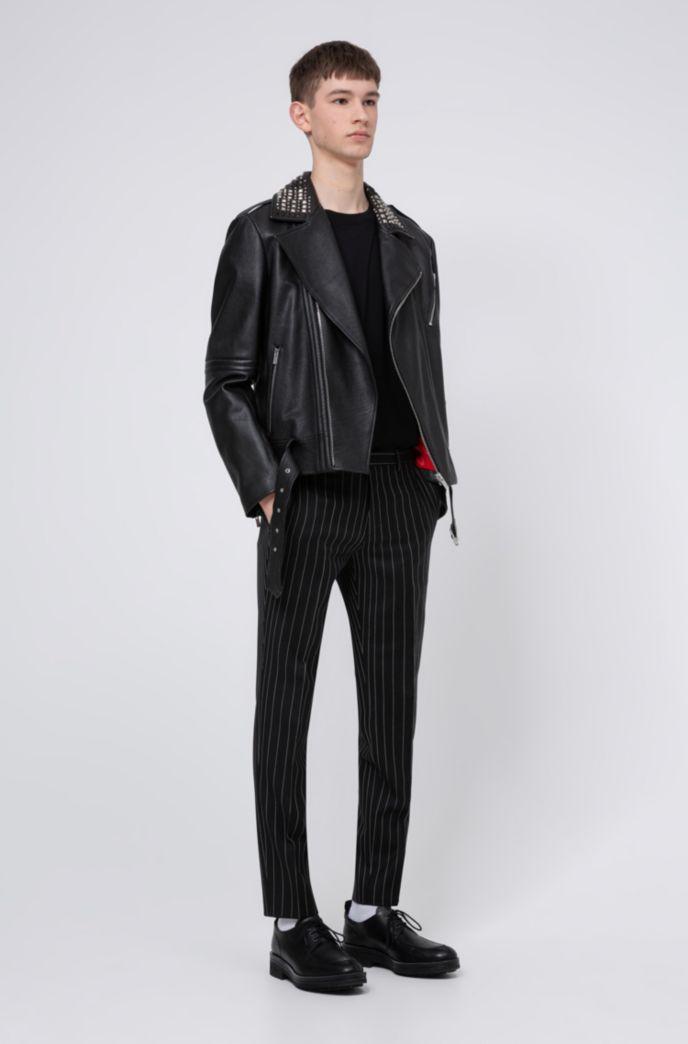 Pantalon Extra Slim Fit en laine vierge à rayures tennis