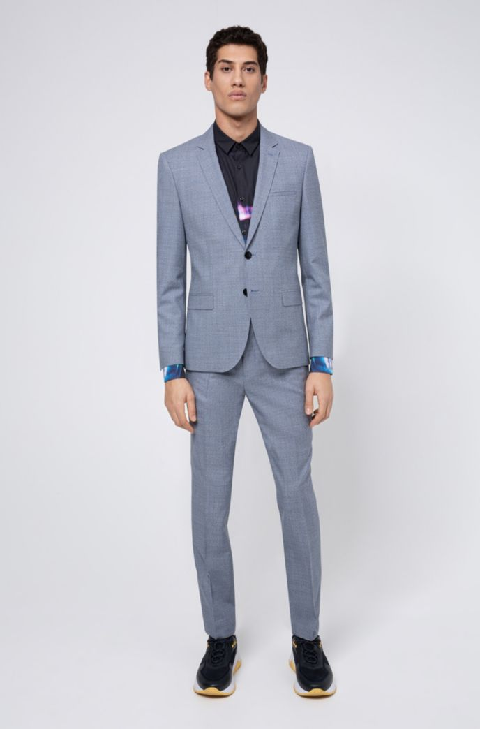 Extra Slim-Fit Hose aus melierter Schurwolle
