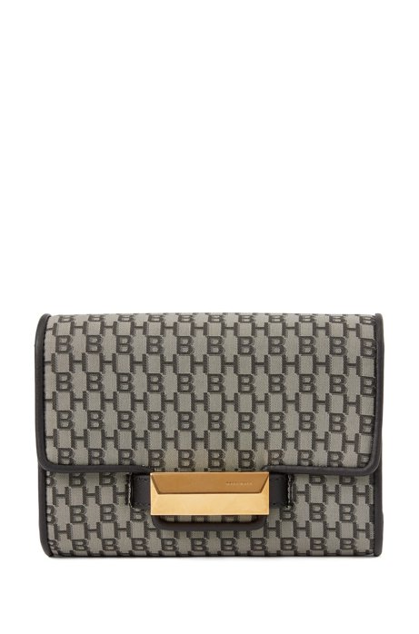Monogram belt bag with detachable chain and strap, Patterned