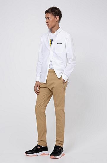 HUGO '93 图案男士常规版型 T 恤,  100_白色