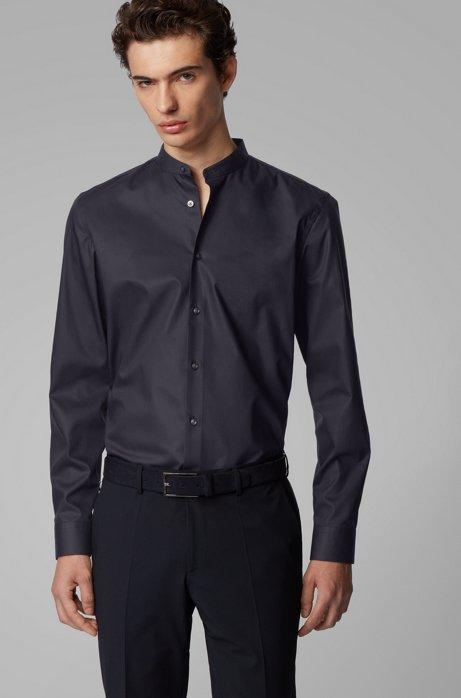 Chemise Slim Fit en coton facile à repasser, Bleu foncé