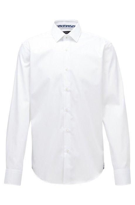 Regular-fit overhemd van gemakkelijk te strijken Oostenrijkse katoen, Wit