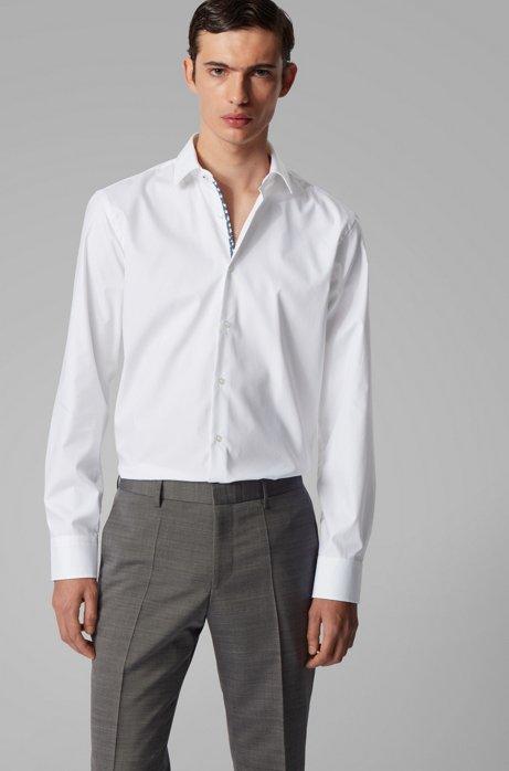 Chemise Regular Fit en coton autrichien facile à repasser, Blanc