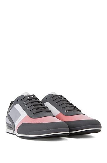 男士反光细节低帮运动鞋,  640_淡红色