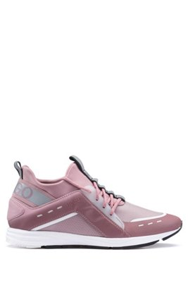 High-profile trainers with Vibram sole, light pink