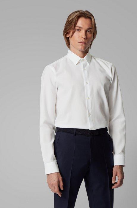 Chemise Regular Fit à la finition résistante aux taches, Blanc