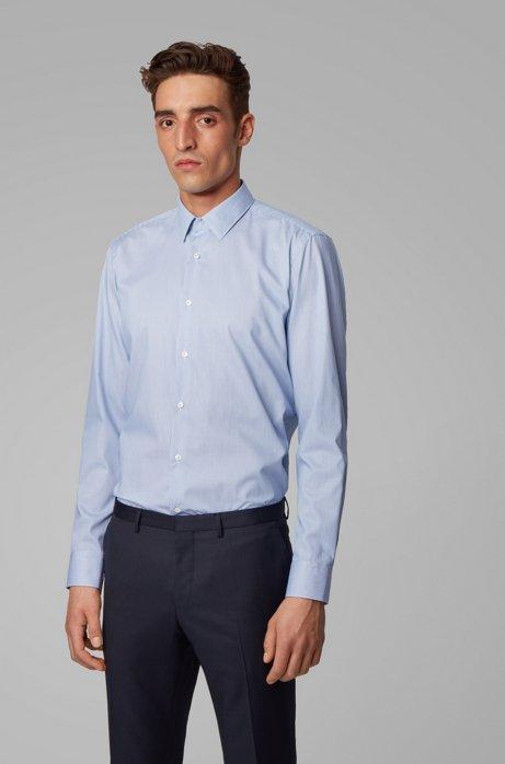 Regular-Fit Hemd mit Streifen-Dessin und Aloe-Vera-Finish, Hellblau