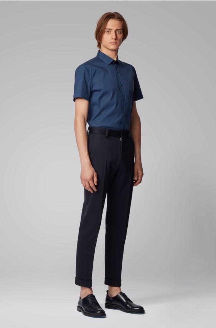 Chemise Slim Fit à manches courtes en coton stretch mélangé