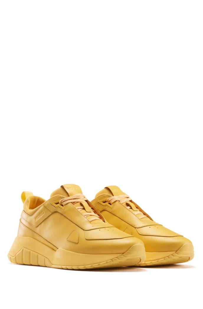 Sneakers im Laufschuh-Stil aus tonalem Nappaleder und Mesh