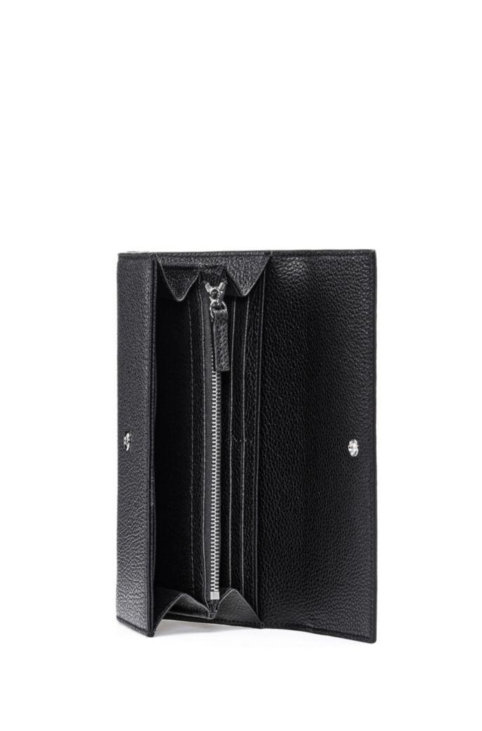 Continentale portemonnee van generfd rundleer met logo-hardware