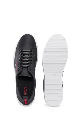 Woven-nylon trainers with HUGO '93 logo, Black