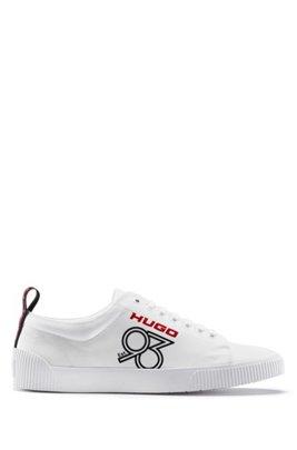 Woven-nylon trainers with HUGO '93 logo, White