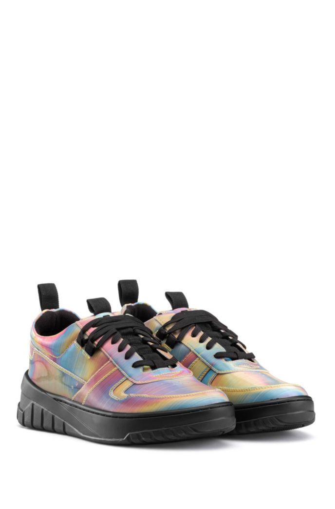 Lage sneakers met meerkleurige bovenzijde