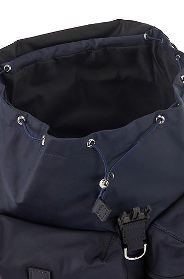 男士意大利尼龙穿绳背包,  401_暗蓝色