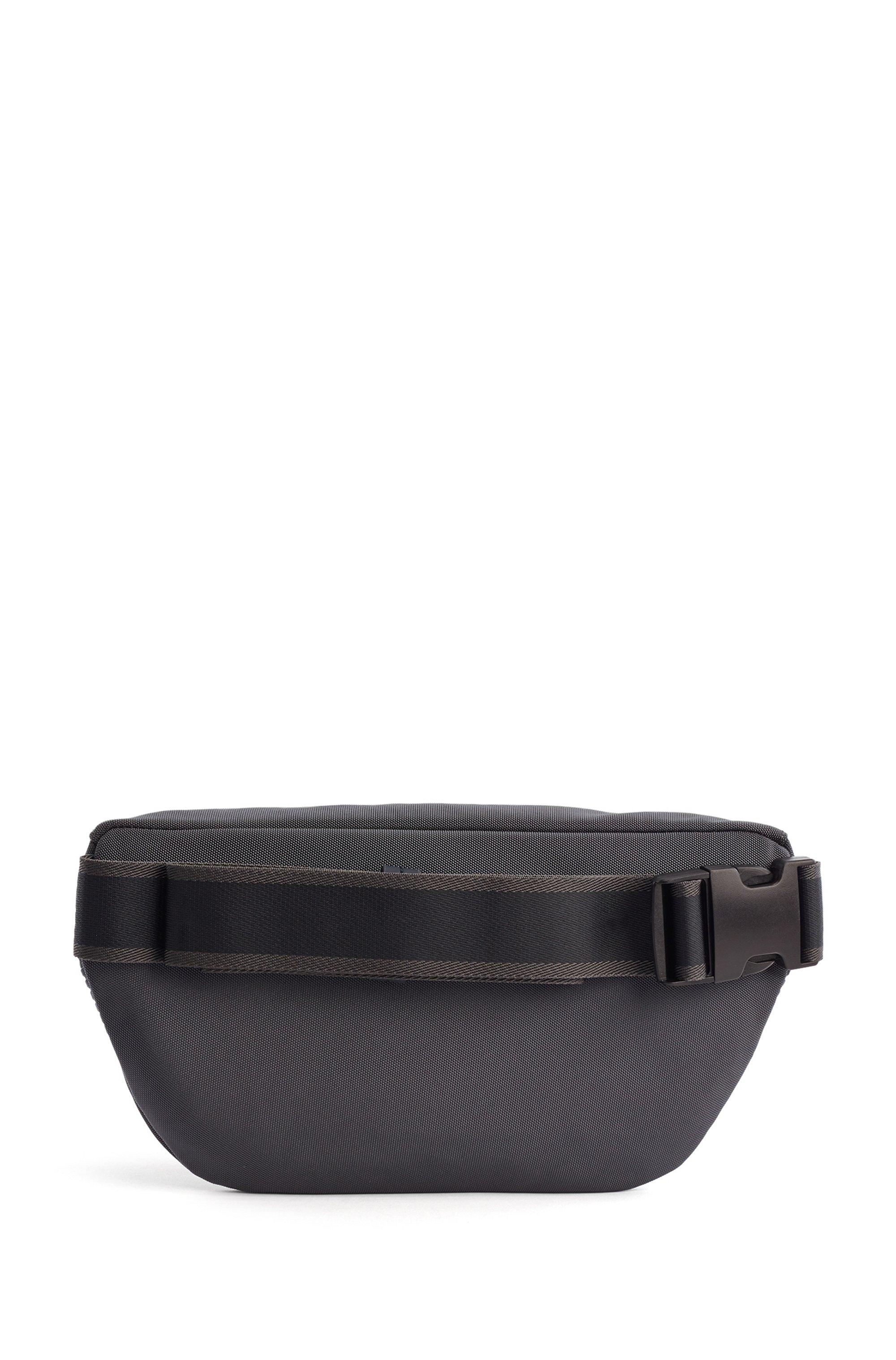 Structured-nylon belt bag with tonal logo
