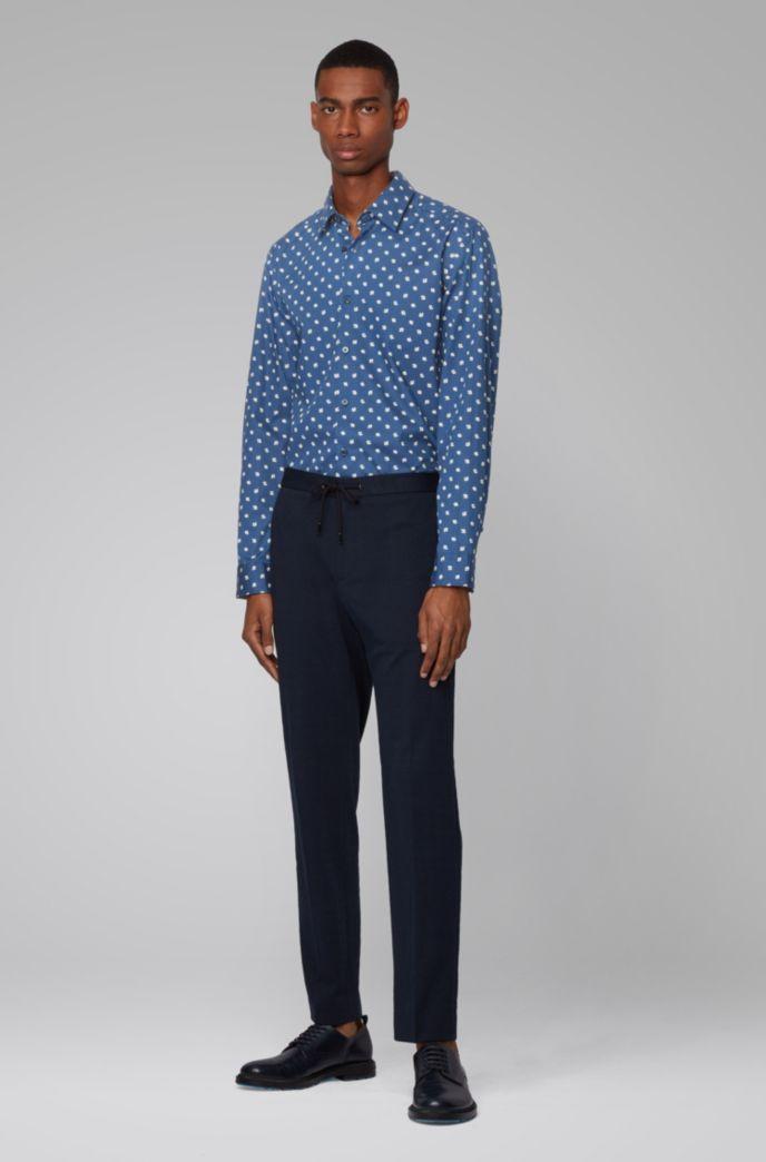 Regular-fit overhemd met exclusieve bloemenprint