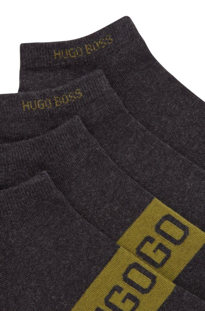 Zweier-Pack Sneakers-Socken mit kontrastfarbenen Logo-Details