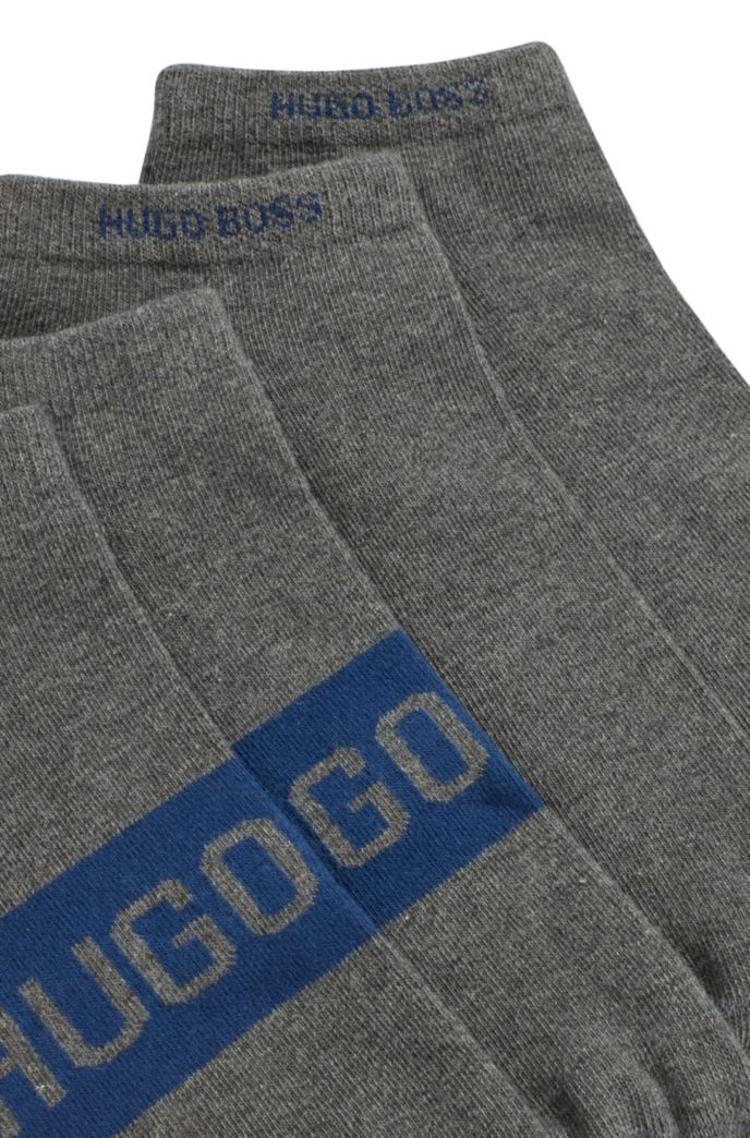 Two-pack of ankle socks with contrast logo details