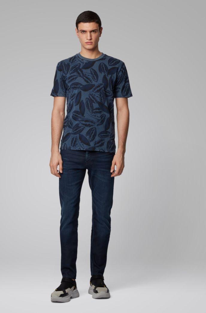 T-shirt en coton mélangé à imprimé graines de kapok