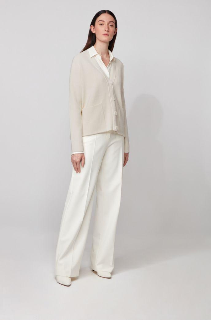 Oversized-fit vest van katoen en zijde