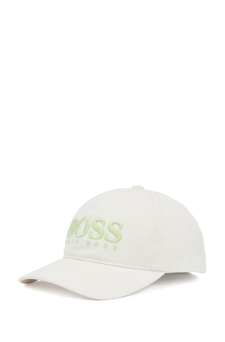 Logo cap in cotton twill with 3D embroidery, Light Beige