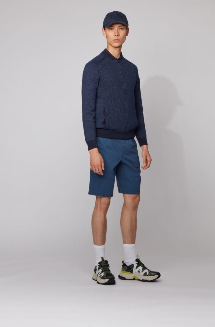 Giubbotto in maglia stile blouson in misto cotone