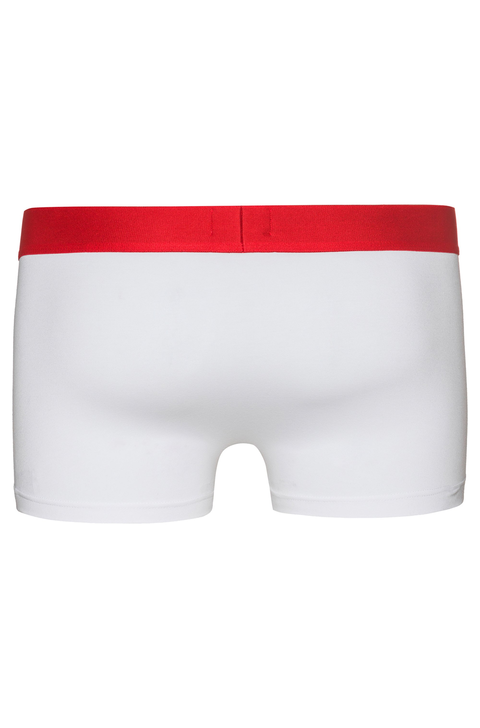 Low-rise trunks in stretch cotton with logo waistband