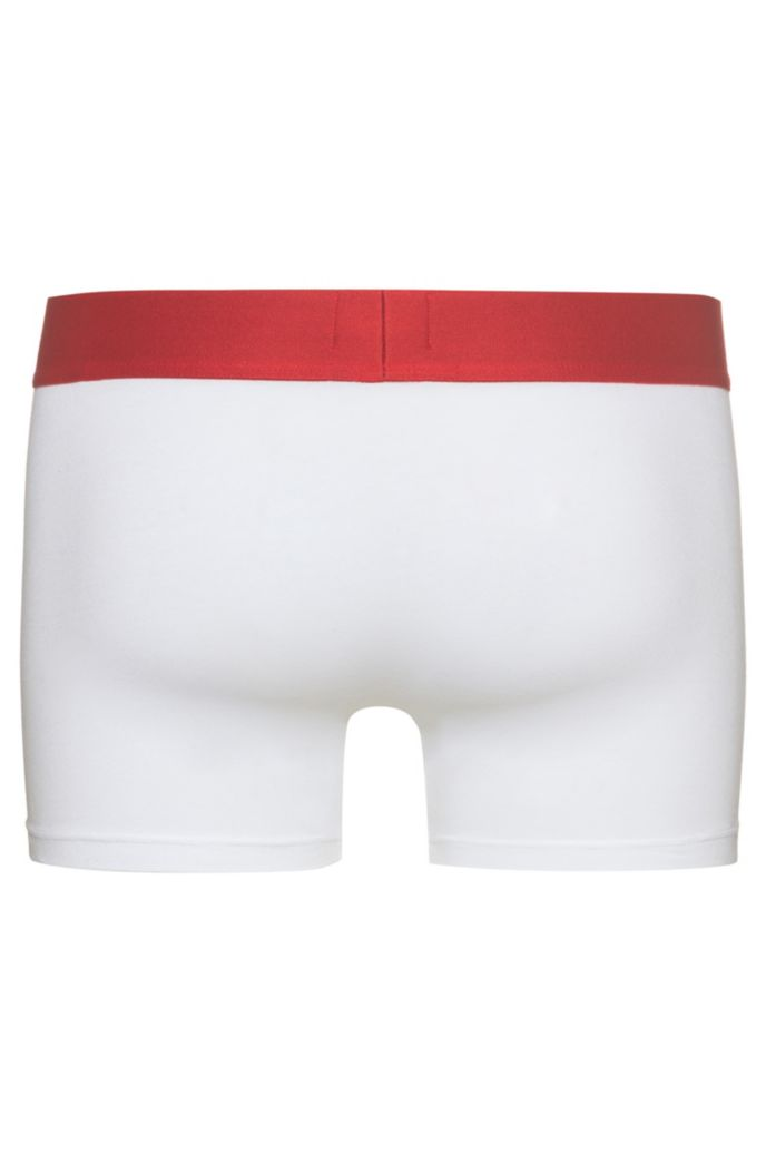 Low-rise stretch-cotton boxer briefs with logo waistband