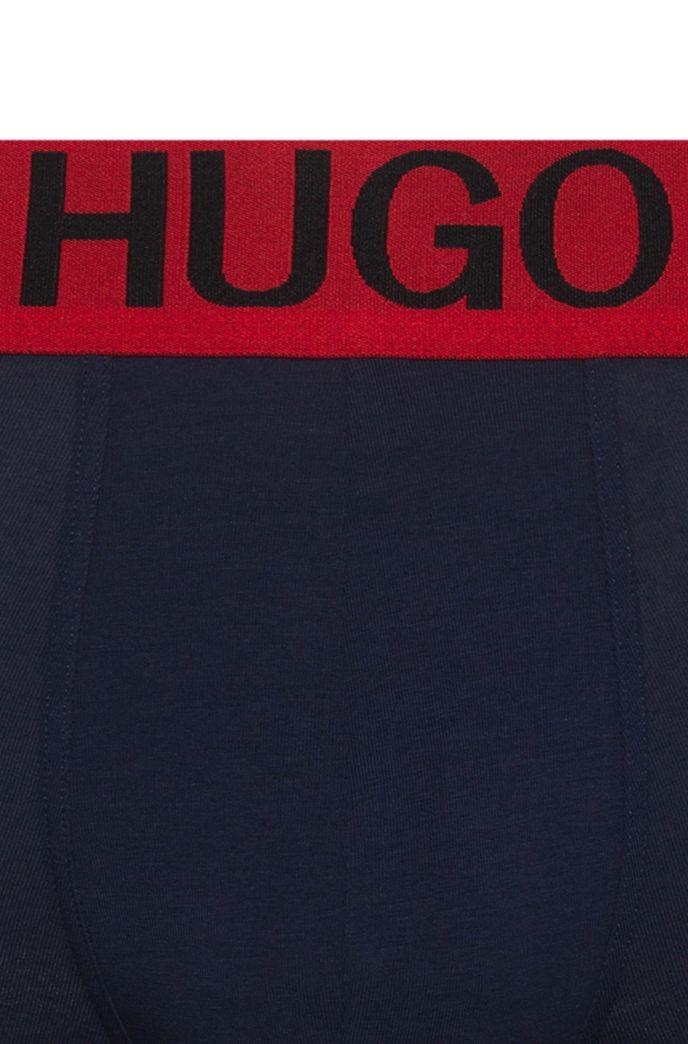 Boxershorts aus Stretch-Baumwolle mit Logo am niedrigen Bund