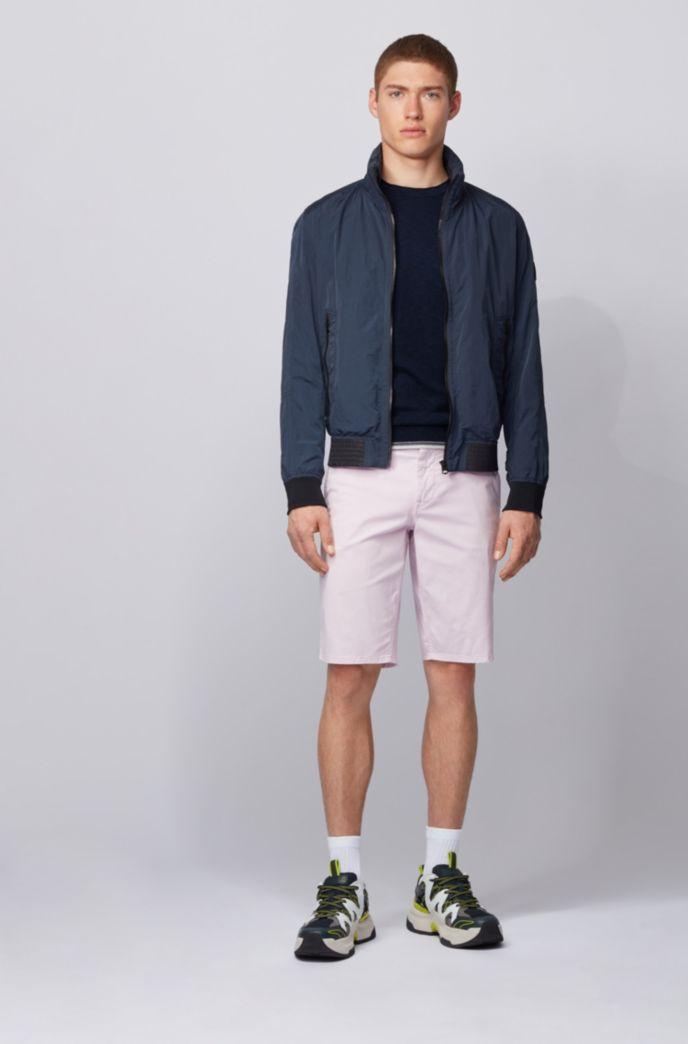 Pull en coton chiné à rayures contrastantes en dégradé