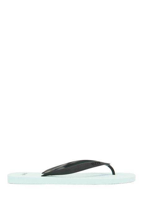 Flipflops aus Gummi mit Logo der neuen Saison, Hellblau