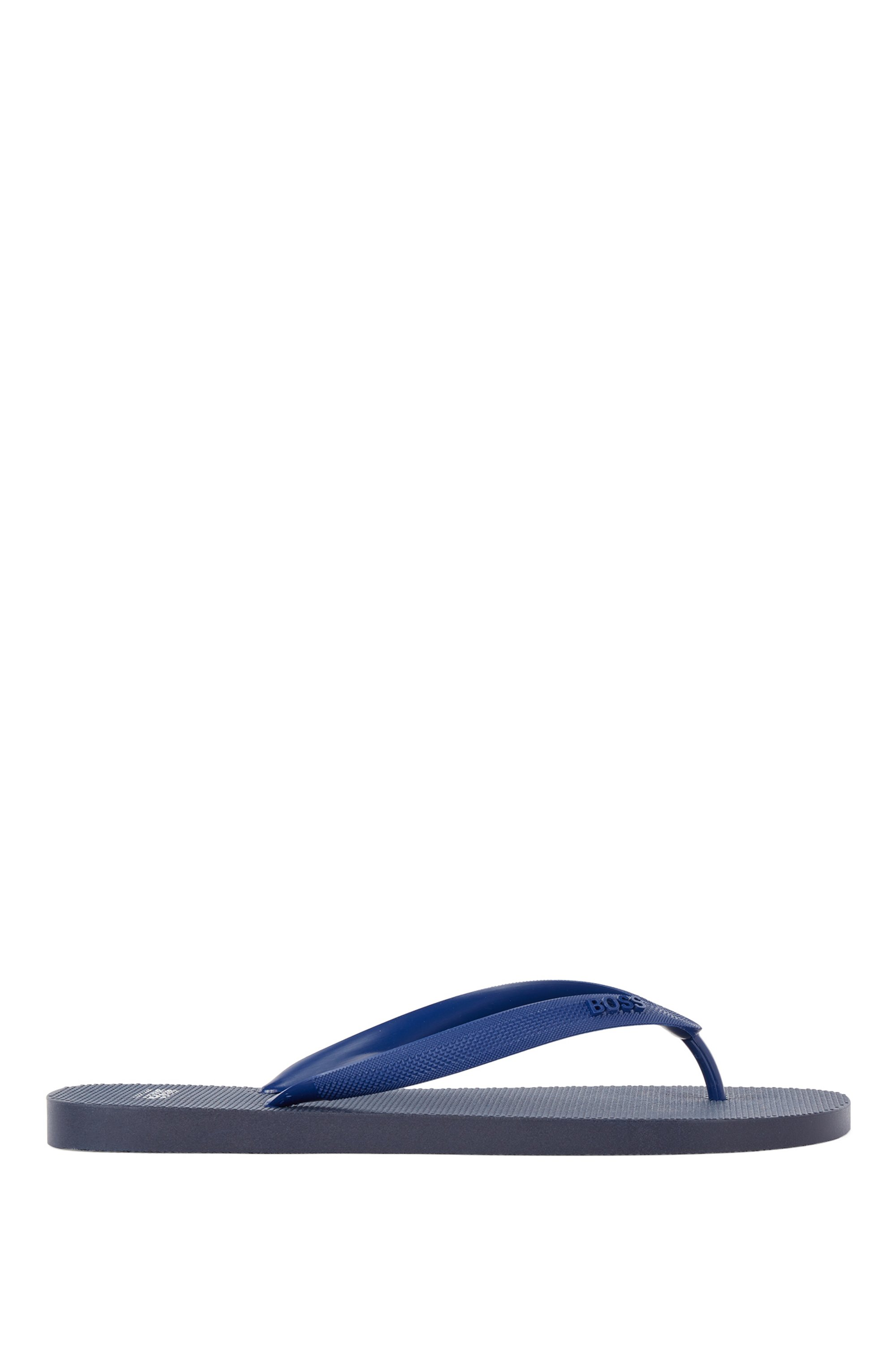 Rubber flip-flops with new-season logo, Dark Blue