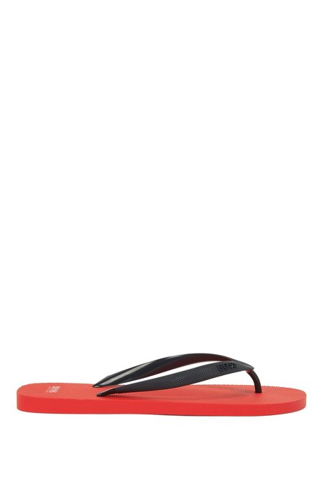 Rubber flip-flops with new-season logo, Light Red