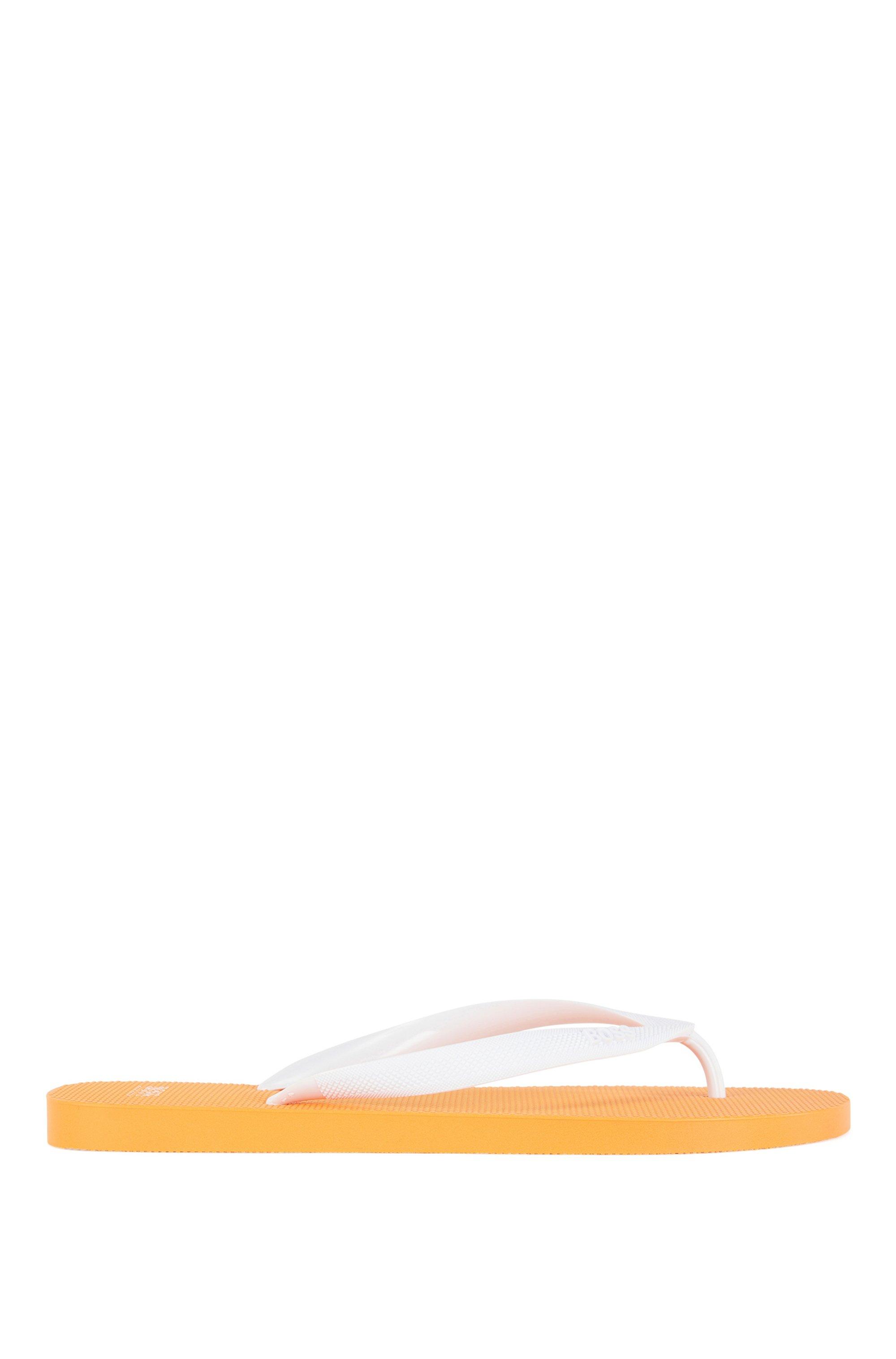 Rubber flip-flops with new-season logo, Orange