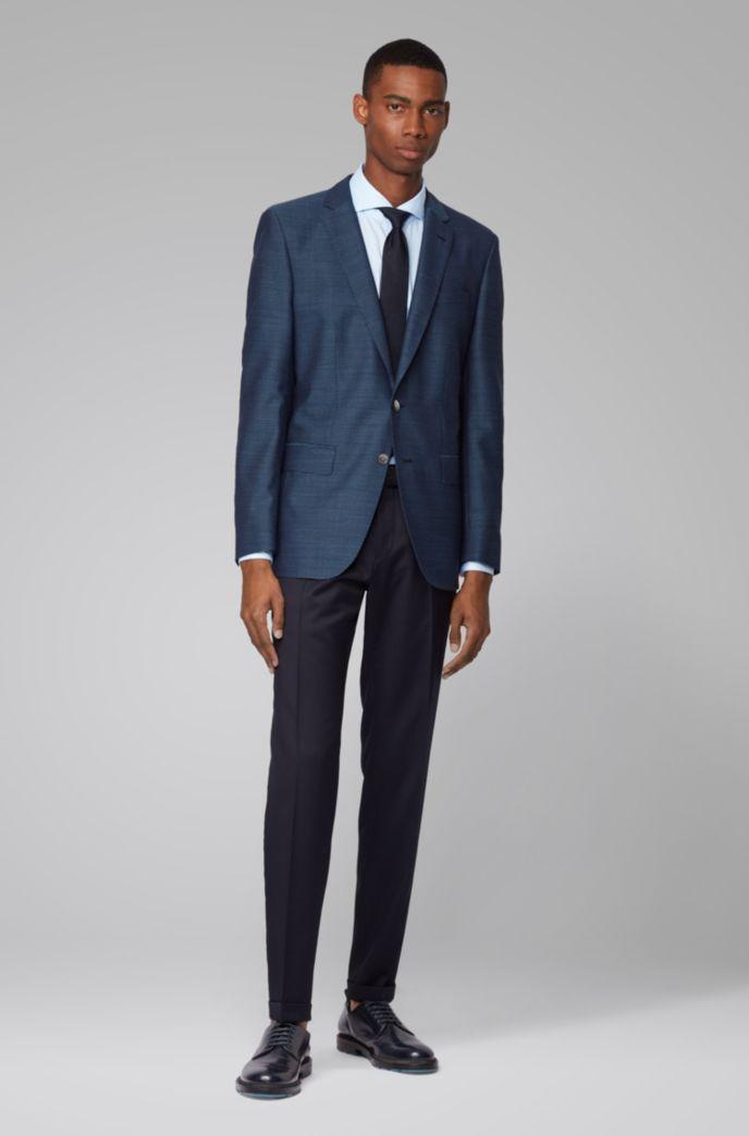 Slim-Fit Hemd aus melierter Baumwolle