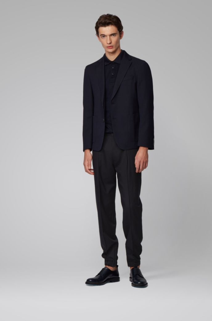 Tapered-fit trousers in traceable virgin wool