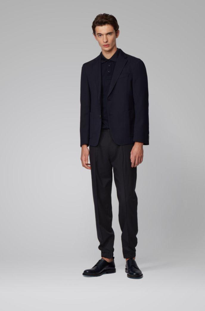 Pantalon Tapered Fit en laine vierge traçable