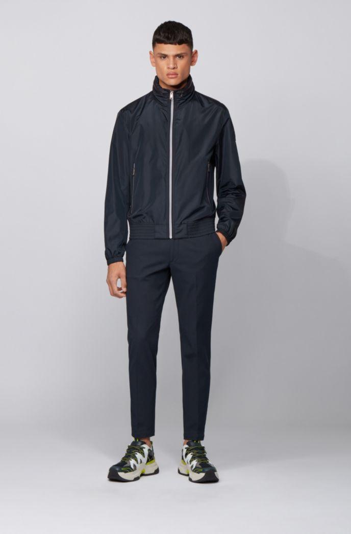 Veste zippée style blouson avec capuche dans le col