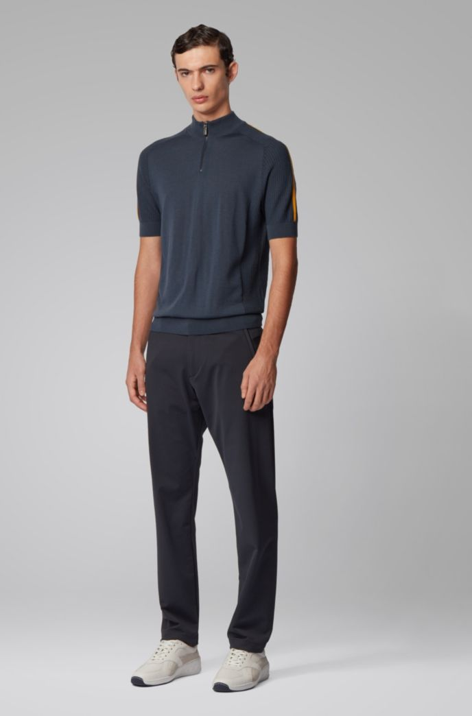 Slim-Fit Hose aus elastischem Twill