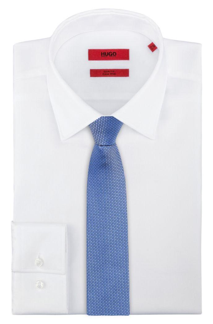 Krawatte aus Seiden-Jacquard mit filigranem Muster und spitzem Ende