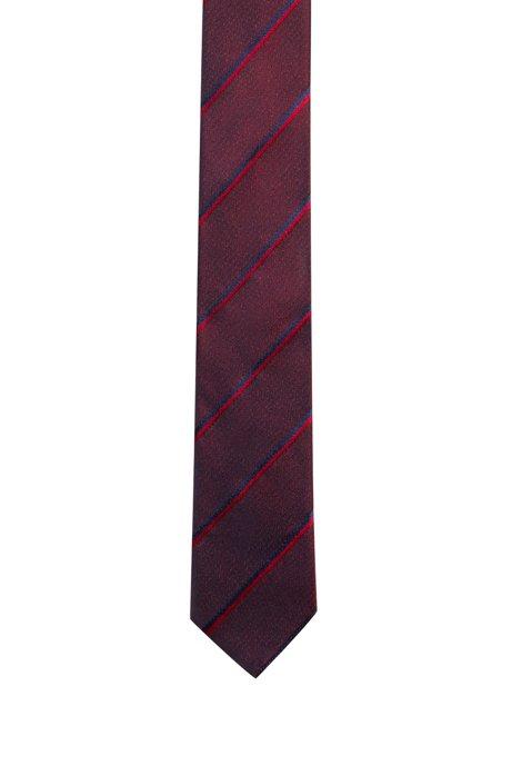 Cravatta in seta jacquard con righe diagonali, A disegni