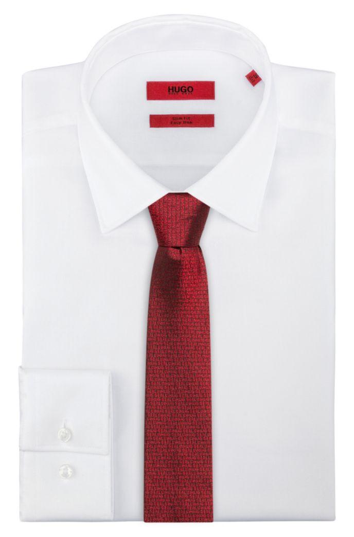 Cravate en jacquard de soie à motif «HUGO loves Berlin»