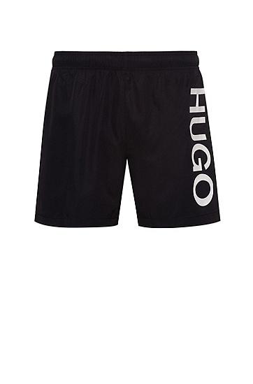 男士直筒沙滩休闲短裤,  001_黑色